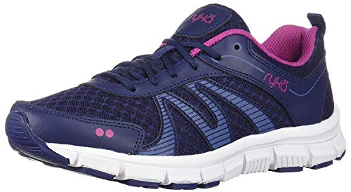 Ryka Women's Heather Cross Trainer, Navy/Blue/Pink, 8.5 M US