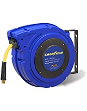 """GOODYEAR Air Hose Reel Heavy Duty Retractable Air Compressor Max. 300PSI, 3/8"""" or 1/4 INCH x 50FT/ 65FT"""