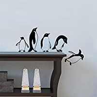 ArtStickers Penguins Jumping Flying Funny Vinyl Wall Sticker Decor Decal Mural Kitchen Pets