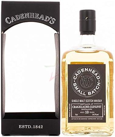 Cadenhead's Cadenhead's CRAIGELLACHIE-GLENLIVET 10 Years Old SMALL BATCH Single Malt Scotch Whisky 2009 54% Vol. 0,7l in Giftbox - 700 ml