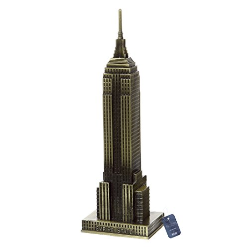 ZOVIE Empire State Building Metal World Building Model Home Desk Decoration (Empire State Building) (Empire State Building Replica)