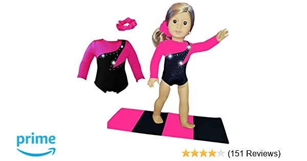 48d0697d0 Amazon.com  Doll Connections VALENTINES DAY Gymnastics Leotard ...