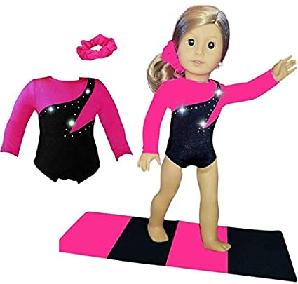 7a9cfbe1fbcd Amazon.com  Doll Connections VALENTINES DAY Gymnastics Leotard ...