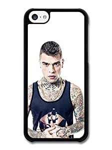 MMZ DIY PHONE CASEFedez Italian Rapper Posing with Piercings and Tattoos White Background case for iphone 5/5s