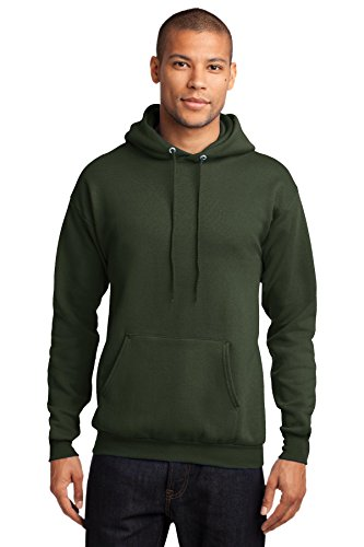 Company Olive - Port & Company Men's Comfort Perfect Hooded Long Sleeve Sweatshirt,XX-Large,Olive