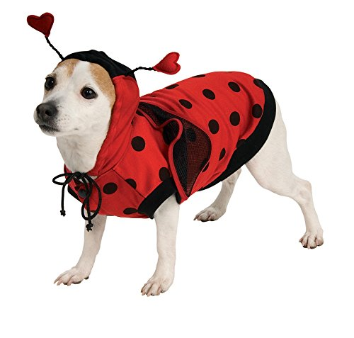 UHC Ladybug Antennas Funny Theme Fancy Dress Halloween Pet Dog Costume, XL
