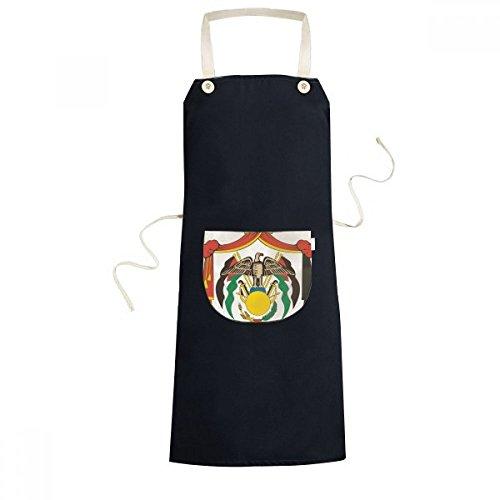 DIYthinker Jordan National Emblem Country Symbol Mark Pattern Cooking Kitchen Black Bib Aprons With Pocket for Women Men Chef Gifts by DIYthinker