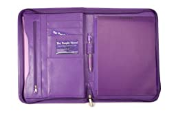 Zippered Padfolio in Coordinated Purple