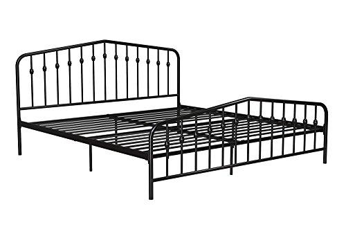 41dSr5hd3oL - Novogratz Bushwick Metal Bed, Modern Design, Full Size - Black