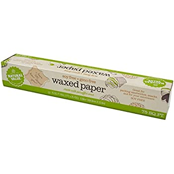 Natural Value Unbleached Natural Waxed Paper, 75 Square Foot Roll