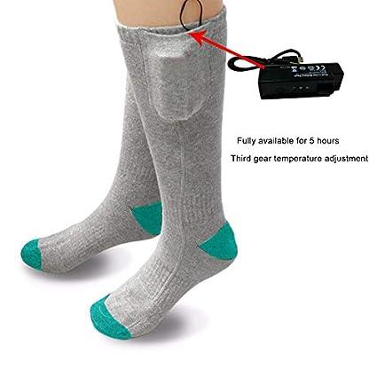 Carremark 1 par Exterior Calcetines térmicos térmicos Hombres Mujeres con Pilas Calentador de pies de Invierno Calcetines eléctricos: Amazon.es: Hogar