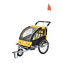 Aosom 3-in-1 Double Child Baby Bike Trailer Stroller & Jogger