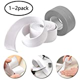 Caulk Strip Bathroom Caulking Tape Waterproof Flexible Self Adhesive Sealing Tape Mildew Proof for Bathtub Kitchen Toilet and Wall Corner 1.5inch x 11ft/38mm x 3.2m(White/Grey)