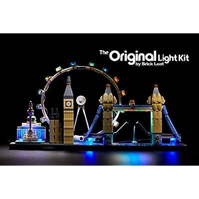 Brick Loot LED Lighting Kit for Lego London England Architecture Skyline - 21034 - Custom Designed - Handmade - Durability Tested: Toys & Games