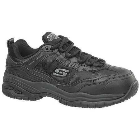 Athletic Work Shoes, 12, EW, Men, Black, PR