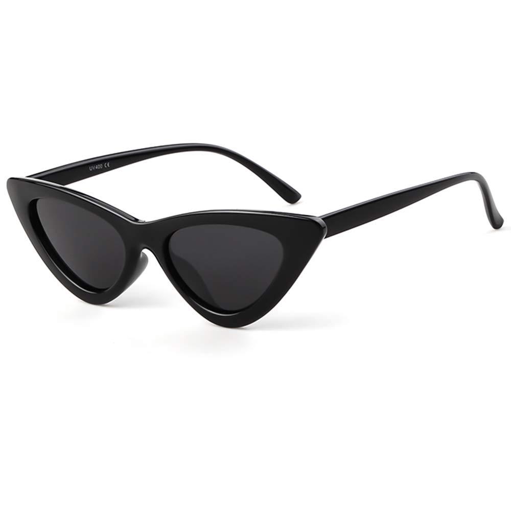 1494279e60 Amazon.com  Clout Goggles Cat Eye Sunglasses Vintage Mod Style Retro Kurt  Cobain Sunglasses (Black Grey)  Clothing