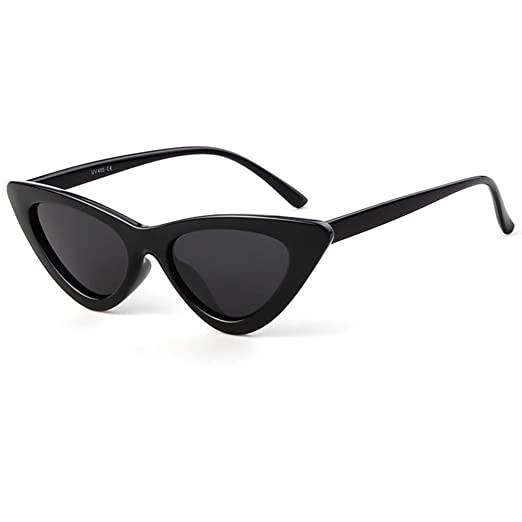 871f749624c1d Image Unavailable. Image not available for. Color  Clout Goggles Cat Eye  Sunglasses Vintage Mod Style Retro Kurt Cobain Sunglasses (Black Grey