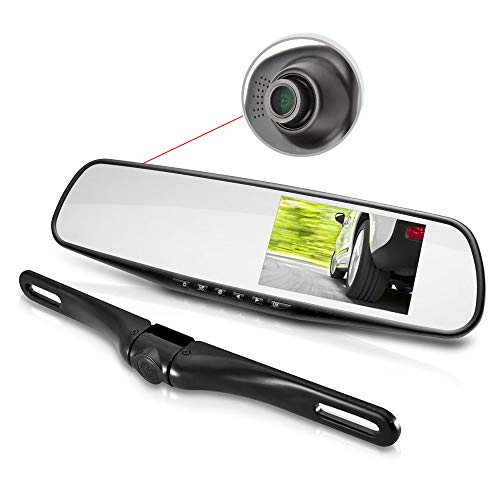HD Rearview Mirror Monitor and Dual-Camera System