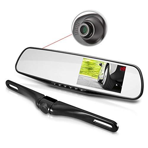 Pyle Dual Dash Cam Car Backup Camera | Car Recorder | Blackbox DVR | Rear Camera | Loop Security Camera | Waterproof Night Vision | Audio Recorder W Microphone | ()