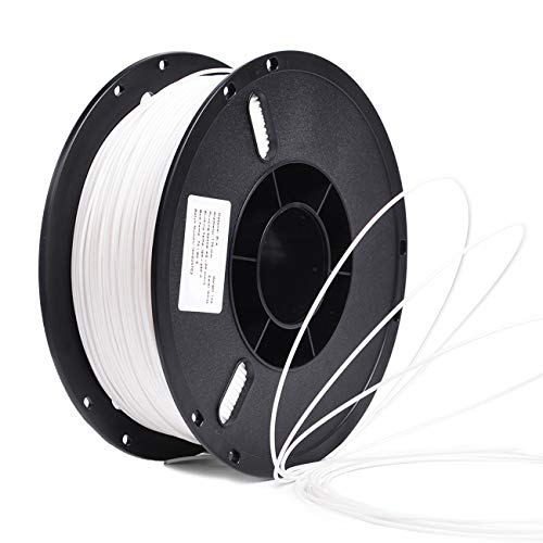 PLA 1.75mm 3D Printer Filament Safety Printing Consumables AccessoriesStronger Heat Stability-1Kg Spool(Dimensional Accuracy +/- 0.03mm)White