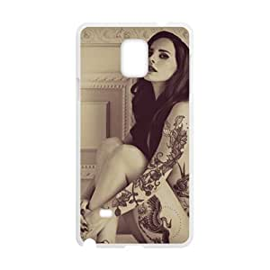 HUAH Sex Tattoo Women Fashion Comstom Plastic case cover For Samsung Galaxy Note4