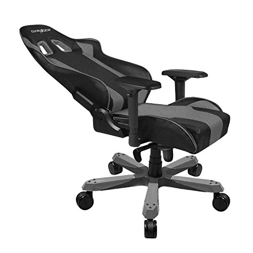 DXRacer King series OH/KS06/NG Large size Seat Office Chair Gaming Ergonomic with - Included Head and Lumbar Support Pillows (Black/Gray)