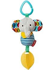 Skip Hop Bandana Buddies Baby Activity Chime & Teether Stroller Toy Stocking Stuffers, Elephant