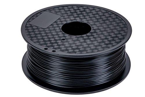 PLA Filament 1,75 mm 1kg Rolle für 3D Drucker (Schwarz)