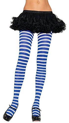 Leg Avenue Opaque Tights - Leg Avenue Womens Nylon Striped Tights