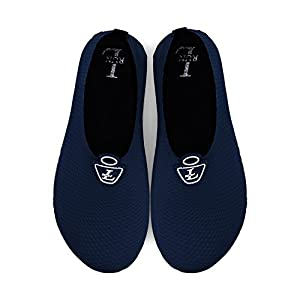 L-RUN Aqua Socks For Men Quick-Dry Water Sports Shoes Navy XXXL(M:10.5-11.5) M US