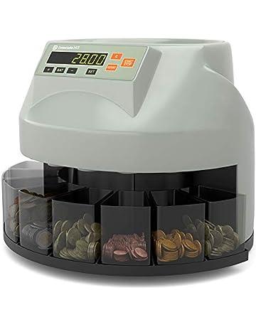 Detectalia M5 - Contador y clasificador de la monedas EURO con función de suma y lotes