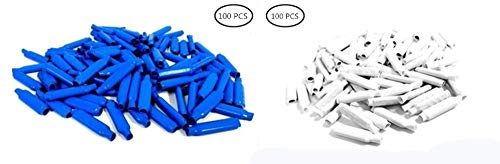- Super B Connector, Crimp B Wire Gel Filled Bean Type Connectors Blue Wet (Outdoor Use) + White Dry (Indoor Use) (100PCS + 100PCS)
