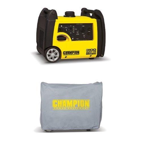 Champion Power Equipment 75531i 2800 Running Watts/3100 Starting Watts Inverter Generator and Cover Bundle