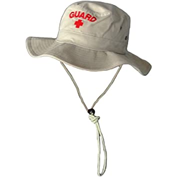 8a4cb19a1fc33 Amazon.com  Kemp USA Lifeguard Bucket Hat - Tan Red  Health ...