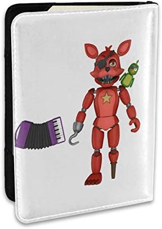 Five Nights At Freddy's 5 夜でフレディ パスポートケース メンズ レディース パスポートカバー パスポートバッグ ポーチ 6.5インチ PUレザー スキミング防止 安全な海外旅行用 収納ポケット 名刺 クレジットカード 航空券