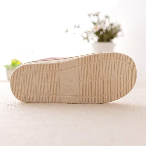 Ciabatte Domestica Home 43 Marina Peluche Cotone Coperta Lebao coppia Cotone Pantofola Dimensioni Pantofole Brown Calda Scarpe Impermeabile Pattini Casa Morbido colore 42 BnI7Rnqr