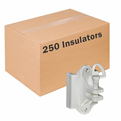 (Zareba IWTPLW-Z Wood and T-Post Insulator, 250 Pack)