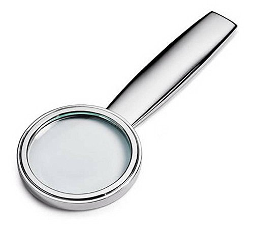 (David Van Hagen Unisex Silver Plated Magnifying Glass - Silver )