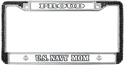 Amazon.com: GND Navy Mom Quotes Proud License Plate Frame ...