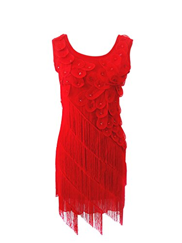 Roaring 20s 1920s Great Gatsby Inspired Themed Party Flapper Dress Costume Red, Red, 0 / 4 (Buy Flapper Dresses)