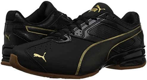 PUMA Women's Tazon 6 WN's FM Sneaker, Black Team Gold, 8.5 M
