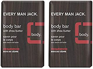 product image for Every Man Jack Men's Body Bar - Cedarwood | 7.0-ounce Twin Pack - 2 Bars Included | Naturally Derived, Parabens-free, Pthalate-free, Dye-free, and Certified Cruelty Free