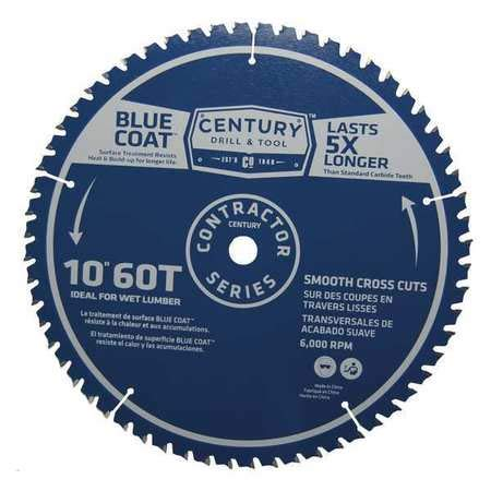60t Finishing Blade - Century Drill & Tool Contractor Finishing Blade,10 in,60T