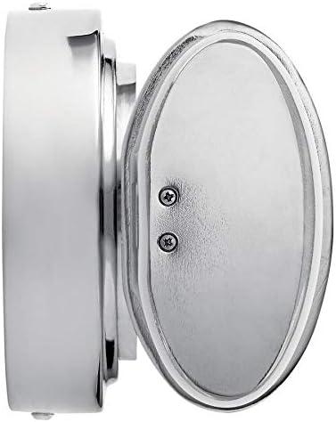 Kichler Ebson 1-Light 5.12-in Chrome Cylinder LED Vanity Light