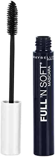 Maybelline Makeup Full 'N Soft Washable Mascara, Very Black Volumizing Mascara, 0.28 fl oz
