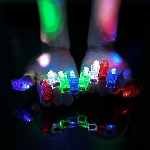 Etekcity LED Finger Lights 100 Pack Bright Party Favors