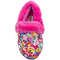 Shopkins Toddler Girls Closed Back Round Toe Cushioned Slippers Plush Collar (See More Sizes)