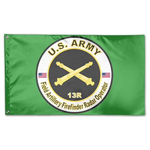 Army MOS 13R Field Artillery Firefinder Radar Operator Garden Flags 3 X 5 in Indoor&Outdoor Decorative Home Fall Flags Holiday ()