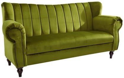 Heine Unisex Speisesofa Breite 200 Cm Grun Ca 96 200 75 Cm Bezug Aus 100 Polyester In Samtoptik Amazon De Kuche Haushalt