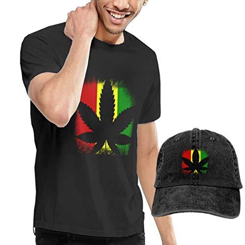 Cotton Basic Tank Top Tees Jersey Casual T-Shirts Unisex Vintage Adjustable Baseball Caps Mom Hats for Big Boy Big Girl Teens Rasta Flag Rastra Weed Cannabis
